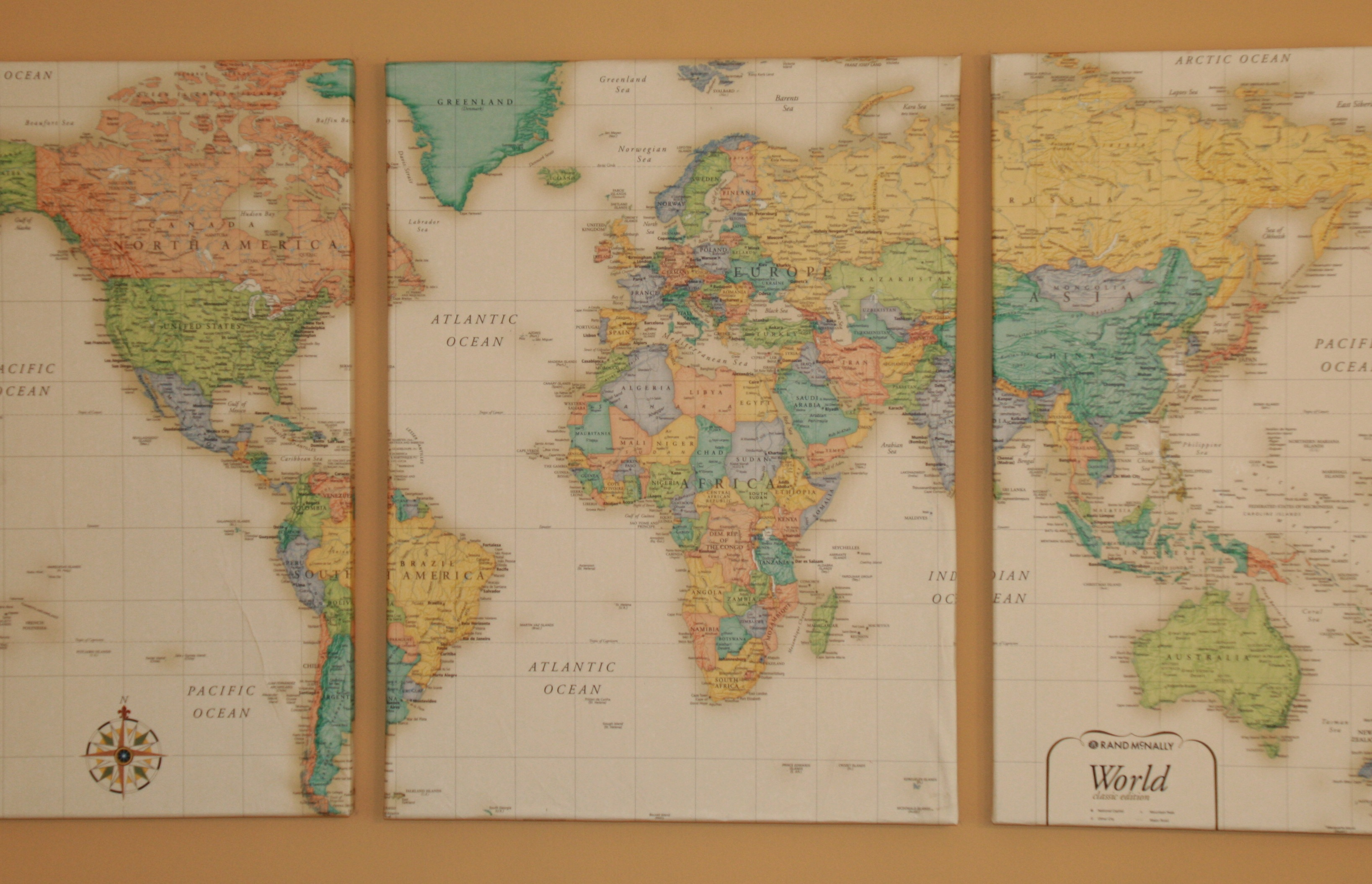 DIY Wall Map Esther Good