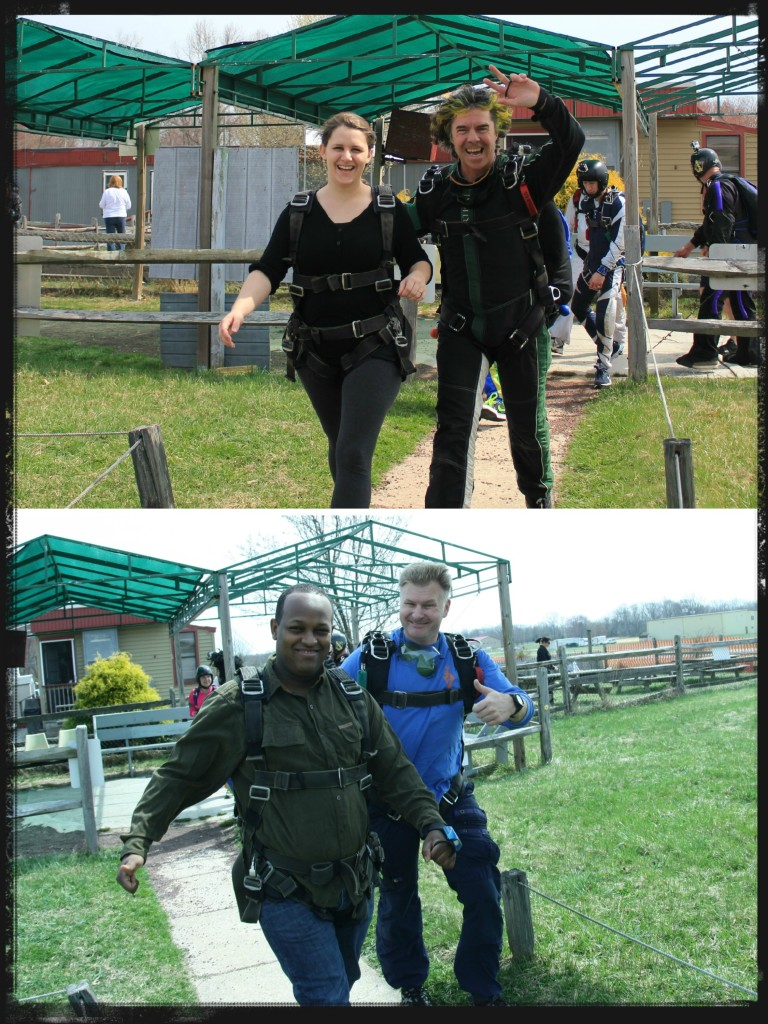 Skydiving-boarding the plane