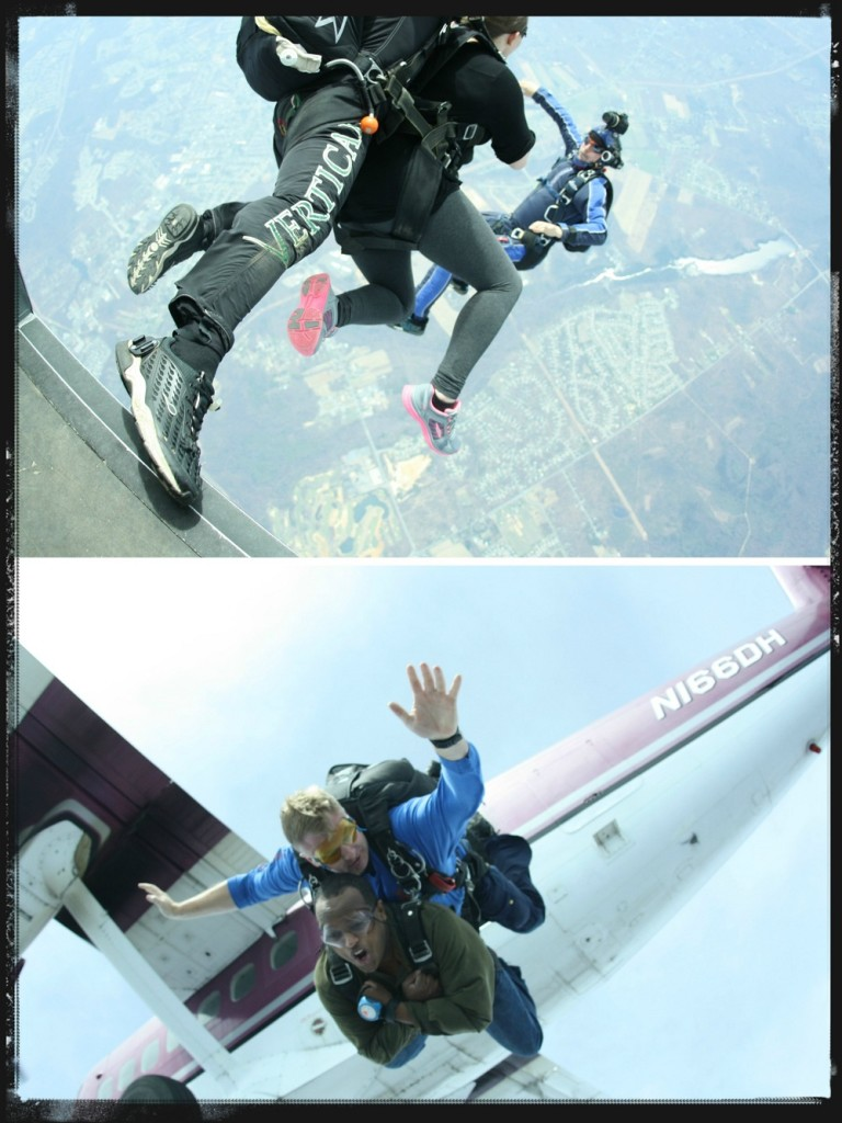 Skydiving jump