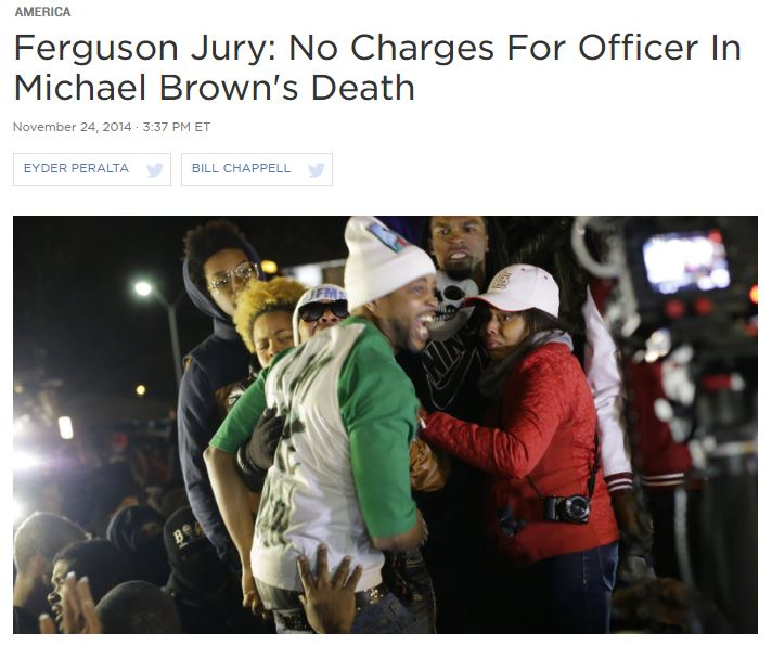 No Charges For Officer In Michael Brown's Death